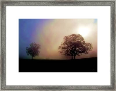 Framed Print featuring the photograph Misty Morning by George Bostian