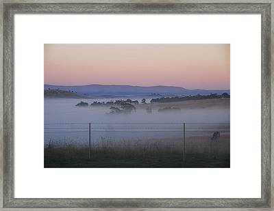 Misty Morning In The Country 1 Framed Print