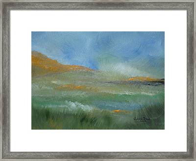 Framed Print featuring the painting Misty Morning by Judith Rhue