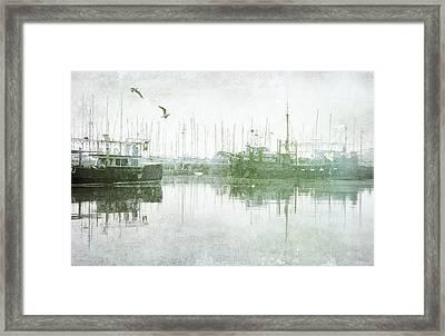 Misty Morning On The Boat Harbour Framed Print
