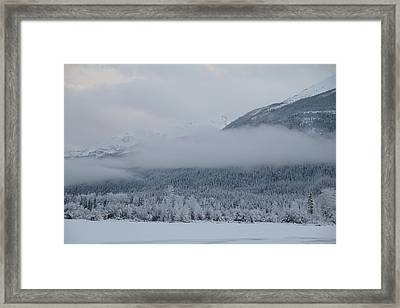 Misty Mountain Framed Print by Kim French