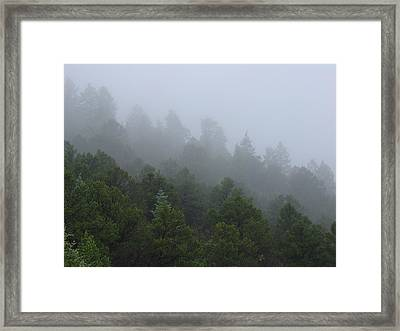 Framed Print featuring the photograph Misty Mountain Morning by Charles and Melisa Morrison