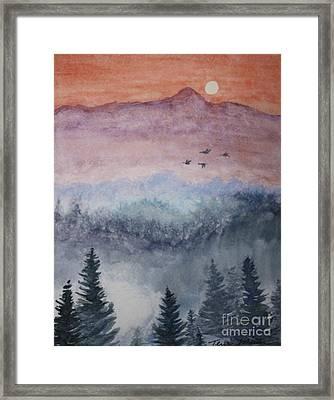 Misty Mountain Framed Print by Terri Maddin-Miller