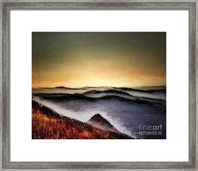 Misty Sunrise Framed Print by Arne Hansen