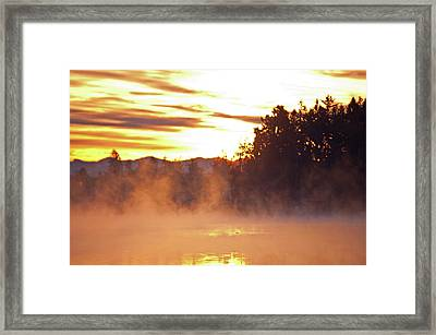 Framed Print featuring the photograph Misty Sunrise by Tikvah's Hope
