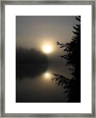 Misty Sunrise Framed Print by Waldemar Okon