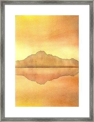 Misty Sunset Framed Print by Hakon Soreide