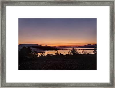 Misty Sunset Framed Print by Marie-Dominique Verdier