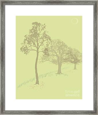 Misty Trees Framed Print by Michelle Bergersen