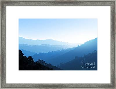 Misty Valley Framed Print by Carlos Caetano