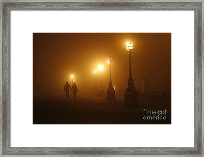 Misty Walk Framed Print by Urban Shooters