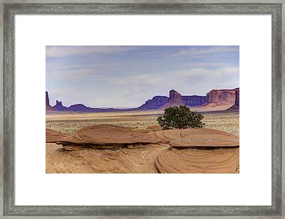 Mitchell Butte From Mystery Valley Framed Print