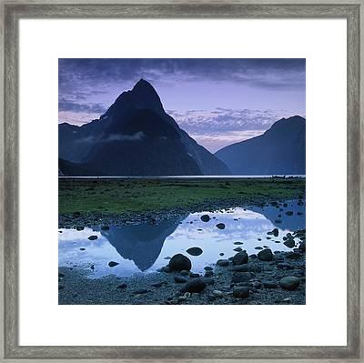 Mitre Peak Framed Print by Atan Chua