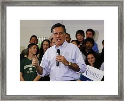 Mitt Romney No. 1 Framed Print