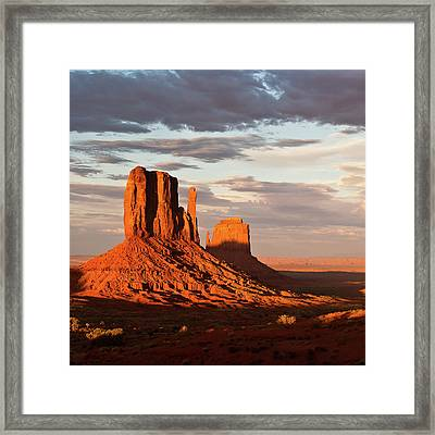 Mittens Of Monument Valley Framed Print by photo by p.Folrev