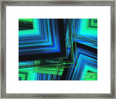 Mix In Blue And Green Art  Framed Print by Mario Perez