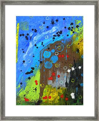 Framed Print featuring the painting Mix It Up by Everette McMahan jr