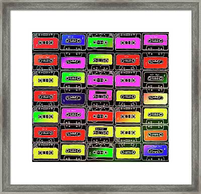 Mix Tapes Framed Print by Image by Catherine MacBride
