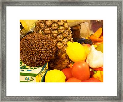 Mixed Fruit Framed Print by Laurie Kidd