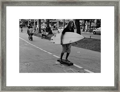Mixed Transportation Framed Print by Victor Bezrukov