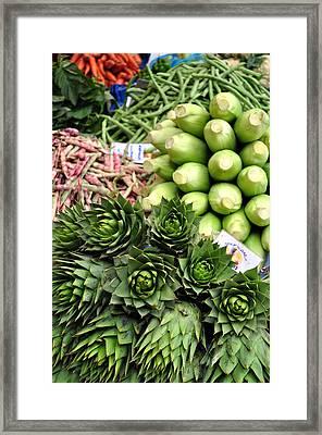 Mixed Vegetables. Framed Print by Fernando Barozza