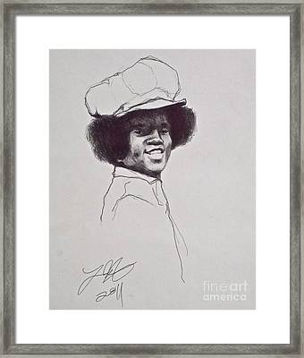 Mj The Early Years Framed Print