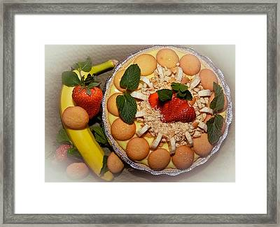 Mmm Nana Puddin Pie Framed Print by DigiArt Diaries by Vicky B Fuller