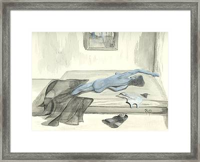 Mmm... Stretch... Framed Print by Robert Meszaros