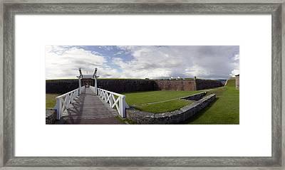 Moat And Bridge -ft George Framed Print