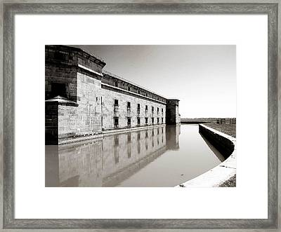 Moat Around Fort Delaware Framed Print by Trish Tritz