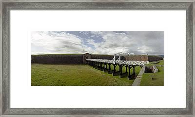 Moat Bridge Framed Print