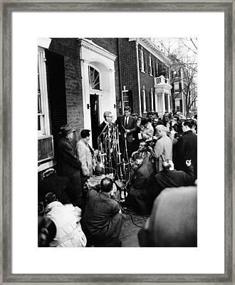 Mob Scene Outside President-elect John Framed Print by Everett