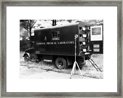 Mobile Acoustics Laboratory, 1940s Framed Print by National Physical Laboratory (c) Crown Copyright