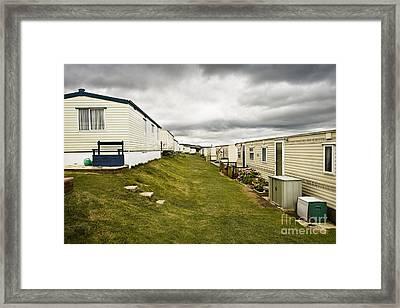 Mobile Home Park Dorset England Framed Print By John Boyes