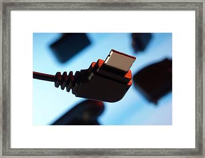 Mobile Phone Power Connector Framed Print