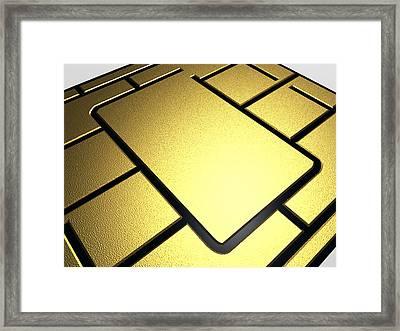Mobile Phone Sim Card Chip Framed Print by Pasieka