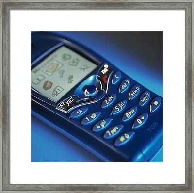 Mobile Phone Framed Print by Tek Image
