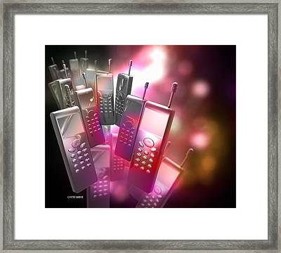 Mobile Phones Framed Print by Victor Habbick Visions