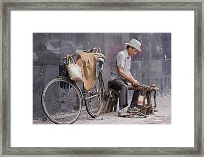 Mobile Sharpener Framed Print