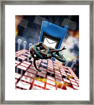 Mobile Telephone Hate Mail Framed Print by Victor Habbick Visions