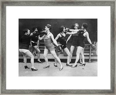 Mock Boxing Framed Print by Topical Press Agency