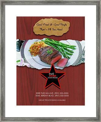 Mock Up Graphic Ad Design Framed Print by Joseph Boyd