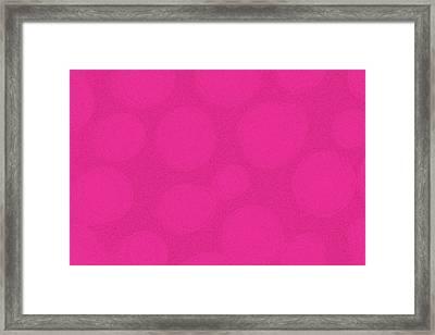 Mod Magenta Framed Print by James Mancini Heath