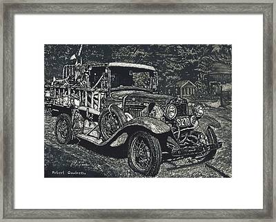 Model A Ford Framed Print by Robert Goudreau