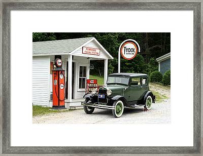 Model A Ford Framed Print by Ted Kinsman