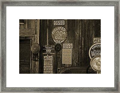 Model A Parking Framed Print by Terrie Taylor