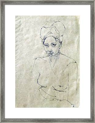 Model After Shover Framed Print by Ertan Aktas