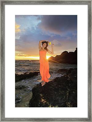 Model At Sunrise Framed Print by Tomas Del Amo - Printscapes