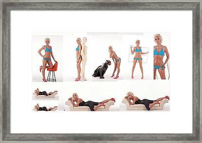Model Barbie Sarah Willman Swimwear Modeling New Jersey 2011 For Evolutions Framed Print