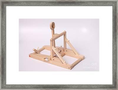 Model Catapult Framed Print by Ted Kinsman